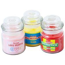 Swizzles clásico dulce Tarros De Vela Paquete De 3 Vara de amor Corazones & Refreshers