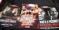 3 Original Fight Posters Mayweather vs. Mosley Pacquiao vs. Cotto Hopkins Roy