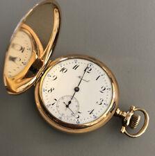 1909 E Howard Hunter Case Pocket Watch 25Y Gold 16S 17J Model 1905 Grade 3 #5