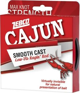 Cajun Smooth Cast Monofilament Low Vis Fishing Line 8lb 110yd Red CLLOWVISP8C