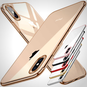Ultra Slim Shockproof Silicone Clear Cover Case for iPhone XR XS MAX X 8 7 6s 6