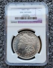 NGC Unc Details 1893-P $1 Silver Morgan Dollar - Stained