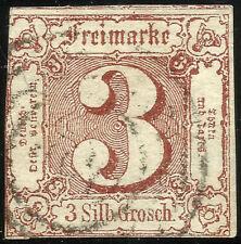 THURN UND TAXIS, 3 SILBERGROSCHEN, 1861, MICHEL # 17, RING CANCELLATION