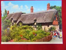 Vintage Shakespeare's Wife Anne Hathaway's Cottage Uncirculated Postcard