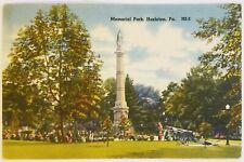 Memorial Park Hazleton Pennsylvania Postcard