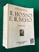 IL ROSSO E IL NERO - Stendhal - Editrice Bietti - 1931 - 2 voll.