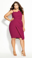 CITY CHIC - NEW - Enchant Dress Size M/18/Plus Size/Sexy/Pink/Optional Straps