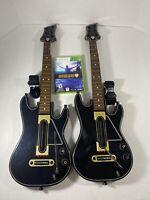 Guitar Hero Live Bundle Microsoft Xbox 360 Game W/ 2 Guitars ( 0000654) & Straps