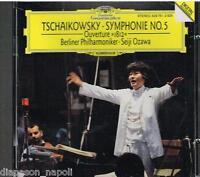 Pjotr Tschaikowski: Sinfonie N.5 (Symphony),Overture 1812 / Ozawa,Berliner - CD