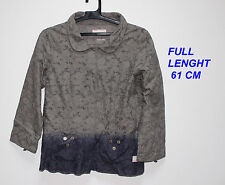 ODD MOLLY GRAY COLOR LADIES WOMAN JACKET  LONG SLEEVE SIZE 3 100 % COTTON