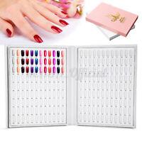 UK 216 Colors Nail Art UV Gel Polish Tips Display Book Chart For Nail Art Salon