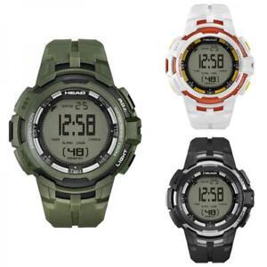 Orologio HEAD SUPER G Digitale Chrono Alarm Dual Time Verde Nero Bianco NEW
