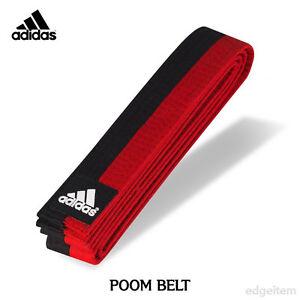 ADIDAS POOM BELT 180cm Black&Red Taekwondo TKD Judo Kendo Hapkido COLOR BELT