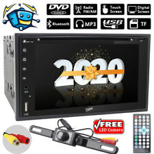 6.2'' Double 2 Din Car Stereo Radio CD DVD Player Bluetooth with Backup Camera
