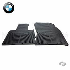 BMW X5 00-06 E53 Front Rubber Floor Mat Set Black All Weather Genuine
