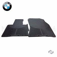 BMW X5 00-06 E53 Front Rubber Floor Mat Set Black All Weather Genuine