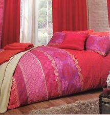 Kingsize Duvet Set Moroccan Jewel Colour Red Pink Gold Lilac