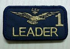 Patch Toppa RICAMO Aeronautica Militare LEADER 1 con VELCRO