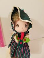 NEW 1991 Applause Precious Moments Doll of the Month December Christmas Caroler
