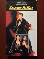 "JAMES BOND 007""LICENCE TO KILL""TIMOTHY DALTON.VHS.133 MINUTES.1990.CBS-FOX."