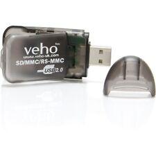 VEHO USB CARD READER - SD/MMC/RS-MMC/SDHC USB CARD - BLACK - VSD-001