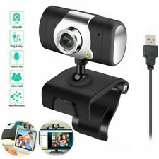 HD Webcam 480P USB Computer Camera Built-in Microphone for Video Meeting Skype