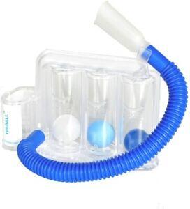 TRI-Ball Atemtrainer, Lungentrainer für Atemtherapie geeignet