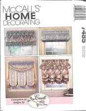7485 NEW McCalls Vintage Sewing Pattern Croscill Window Treatments Header Decor