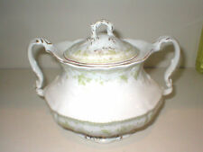FURNIVALS 19th Century China,WALDEN-Green: COVERED BOWL, Sugar?Tea
