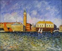 Renoir Doges Palace Venice, Quality Hand Painted Oil Painting Repro, 20x24in