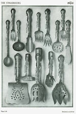 1910 Gorham Sterling Strasbourg Flatware Catalog Reprint 69 Pieces Pictured