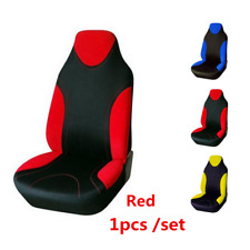 Durable Washable Red Polyester Fabric Car Front Seat Cover Cushion Protection