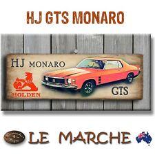 "🚘 HOLDEN GM ""HJ Monaro"" Wooden Rustic Plaque / Sign (FREE POST) 🚘"
