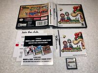 Mario & Luigi: Bowser's Inside Story (Nintendo DS, 2009) NDS Complete LN Mint!
