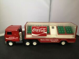 T409-BUDDY L TINPLATE COCA COLA LORRY.MADE IN JAPAN