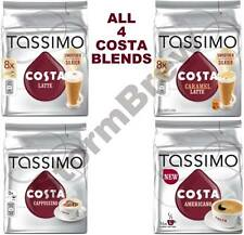 TASSIMO COSTA T-DISCS PODS VARIETY PACK: LATTE, CARAMEL, CAPPUCCINO, AMERICANO