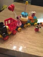 Mickey And Minnie Mouse Birthday Train Lego Duplo 21 Pieces Used