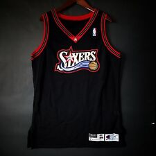 100% Authentic 97 98 Sixers 76ers Blank Game Issued Pro Cut Jersey 46 - iverson