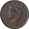 1836 Large Cent PCGS AU53 N.3 R.1 Superb Eye Appeal Strong Strike