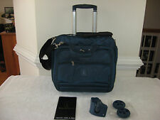 "Travelpro Crew Marine Blue 16""  Deluxe Rolling Tote  Overnight Bag"