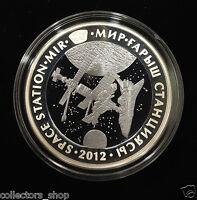 KAZAKHSTAN: Bi-color Ag+Ta coin 500 tenge 2012 «MIR» SPACE STATION TANTALUM PRF