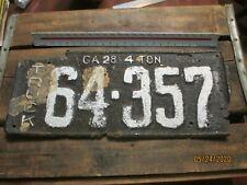 antique auto license plate Georgia 1928 Truck