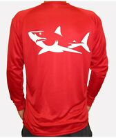 Shark Fish Long Sleeve UPF 30 T-Shirt Sport Fishing Boat Beach Sun UV Protection