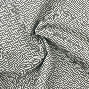 Soft Geometric Grey Upholstery Fabric Material 140cm wide NEXT 287A