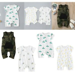 Baby Romper Summer Cotton Jumpsuit Infant Clothes Boy Girl Cartoon Short Sleeves