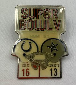 Super Bowl V Starline Pin Colts V Cowboys Super Bowl 5 1971