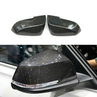 Carbon Fiber Replace Side Wing Mirror Cover Caps for BMW F22 F30 F31 F32 F36 X1