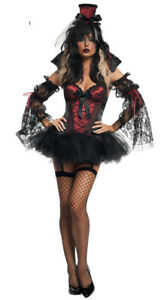 6 Piece Zombie Halloween Witch Day of the Dead Costume Size 8-10 Burlesque