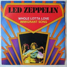 "LED ZEPPELIN WHOLE LOTTA LOVE/IMMIGRANT SONG rare BELGIUM 7"" on Atlantic"