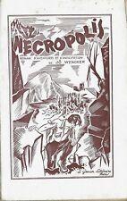 RARE EO N° 1949 + JÔ WENCKER + DÉDICACE : NÉCROPOLIS. AVENTURES & ANTICIPATION